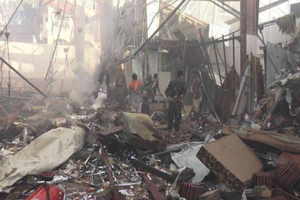 حملات گسترده جنگنده های سعودی به صعده یمن