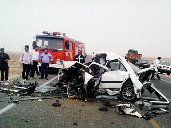 سه کشته و هفت مصدوم در تصادف زنجیره ای جاده چالوس