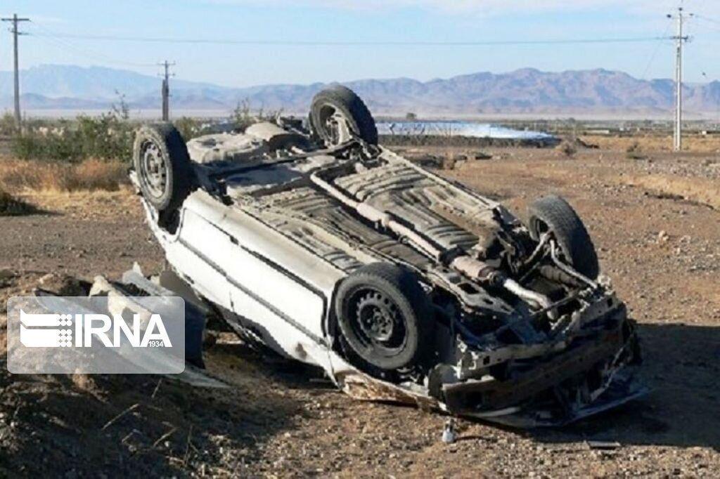 خبرنگاران واژگونی 2 خودرو در خمین یک کشته و 6 مصدوم داشت